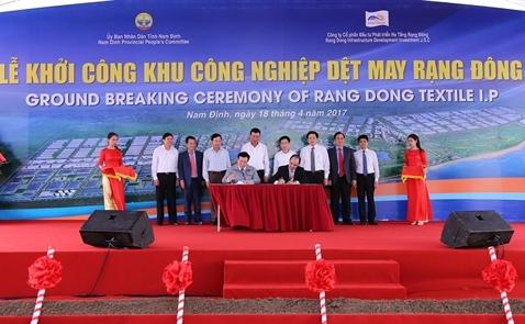 Rạng Đông khởi công khu công nghiệp dệt may ở tỉnh Nam Định
