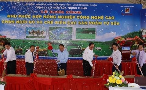Đầu tư gần 4.000 tỷ đồng xây nhà máy chế biến sữa công nghệ cao tại Bình Thuận
