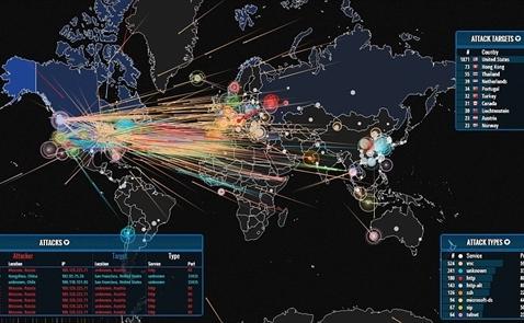 """Việt Nam nằm trong top 10 """"điểm nóng"""" an ninh mạng toàn cầu"""