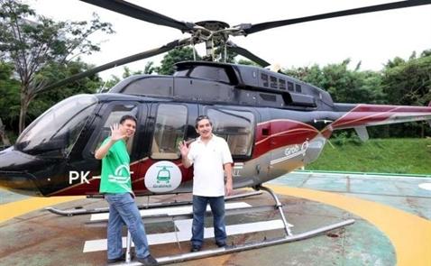 Grab thử nghiệm dịch vụ trực thăng