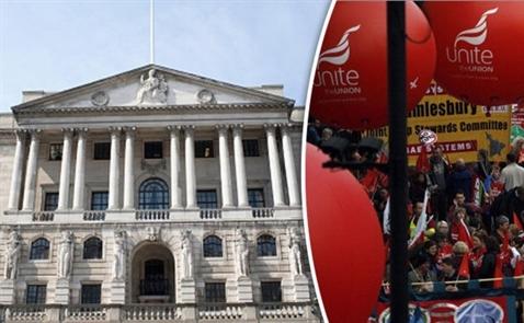 Nhân viên Ngân hàng Trung ương Anh đình công vì được tăng lương ít