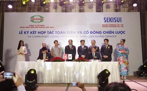 Tiền Phong Nam kí kết hợp tác toàn diện với Sekisui Nhật Bản