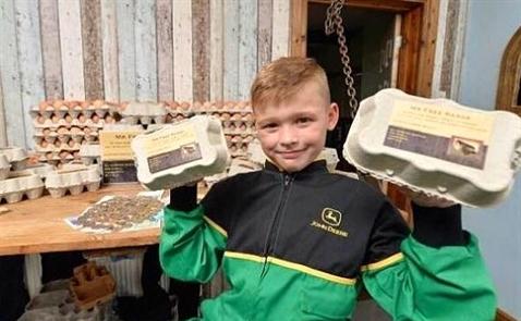 Cậu bé 8 tuổi đi bán trứng, thu nhập 17.000 USD/năm