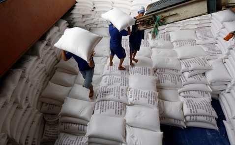 Giá gạo xuất khẩu tiếp tục giảm