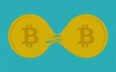 Bitcoin lại giảm điểm trước lo ngại bị phân chia