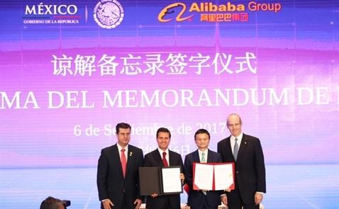 Mexico kí thỏa thuận thương mại điện tử với Alibaba