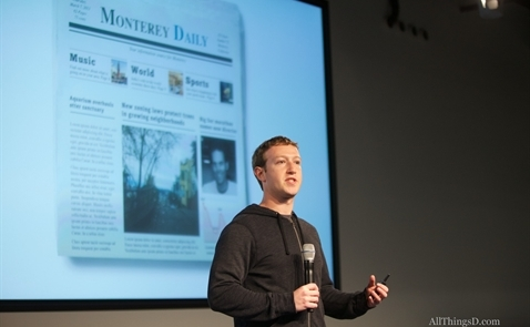 Facebook muốn kiếm tiền cho báo chí