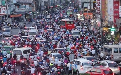 Người dân Hà Nội và TP. HCM chịu 1 tiếng kẹt xe mỗi ngày