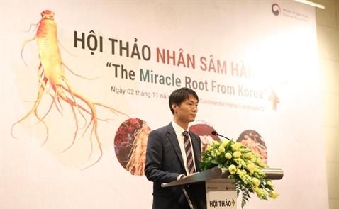 Việt Nam là thị trường nhập khẩu nhân sâm lớn thứ 5 của Hàn Quốc