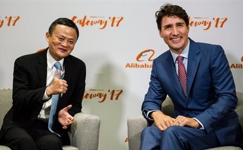 Thủ tướng Canada Justin Trudeau nói gì với Jack Ma?
