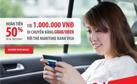 Maritime Bank, Grab và Uber cùng tung ưu đãi lớn