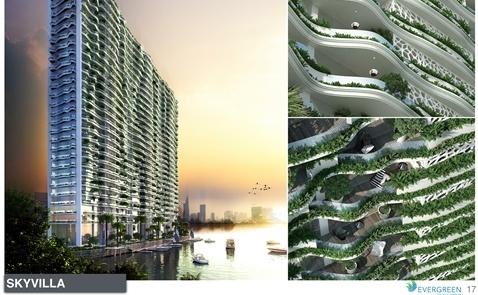 Biệt thự trên không phủ đầy cây xanh tại khu Nam Sài Gòn