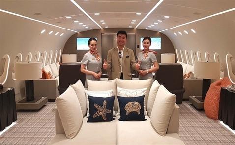Bên trong chiếc Boeing cá nhân giá thuê 1,7 tỷ đồng một giờ