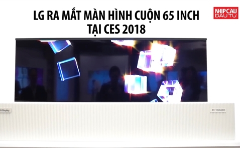 LG giới thiệu màn hình cuộn 65 inch tại CES 2018
