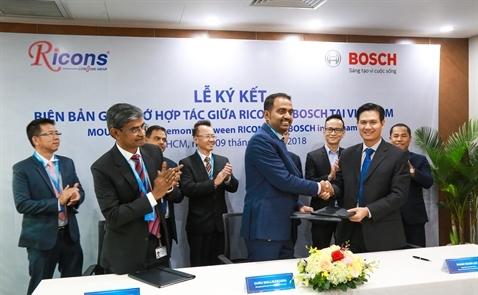 Bosch bắt tay Ricons trong lĩnh vực bất động sản