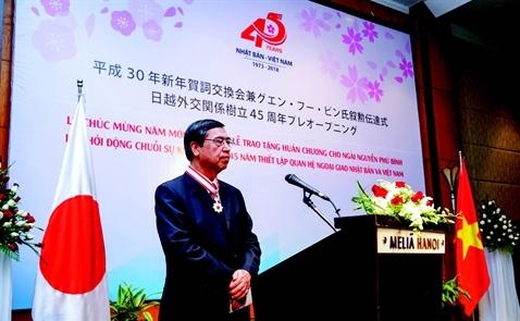 Chính phủ Nhật trao Huân chương Mặt trời mọc cho Đại sứ Nguyễn Phú Bình