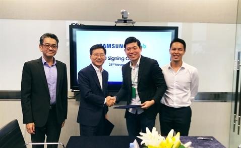 Grab bắt tay với Samsung tại Đông Nam Á