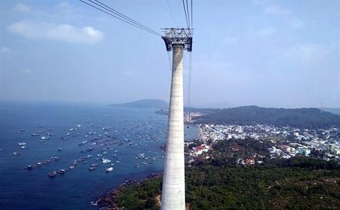 Cận cảnh cáp treo vượt biển Việt Nam dài nhất thế giới