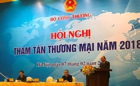 Thủ tướng: Tham tán hướng đến mục tiêu xuất khẩu đạt 500 tỷ USD