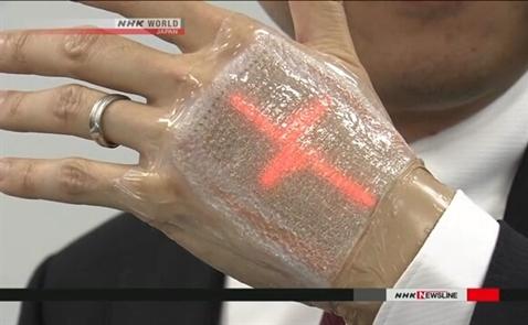 Màn hình siêu mỏng dán trên da