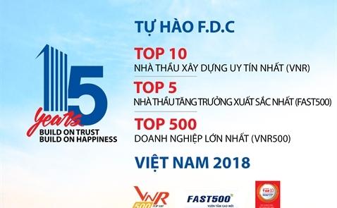 F.D.C trong top 10 nhà thầu uy tín 2018