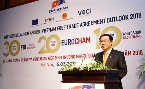 Khoảng 90% doanh nghiệp châu Âu sẽ duy trì, mở rộng đầu tư tại Việt Nam