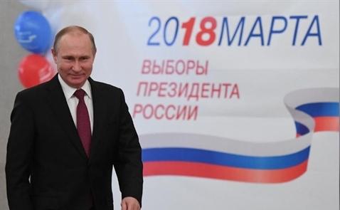 Ông Putin tái đắc cử, nắm quyền thêm 6 năm