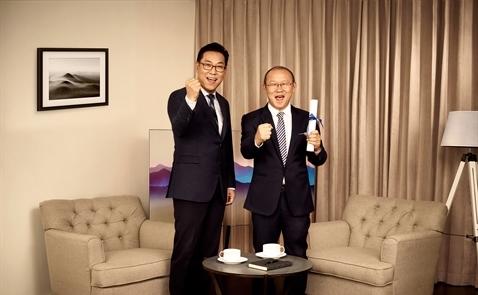 Ông Park Hang Seo trở thành đại sứ thương hiệu của Samsung tại Việt Nam