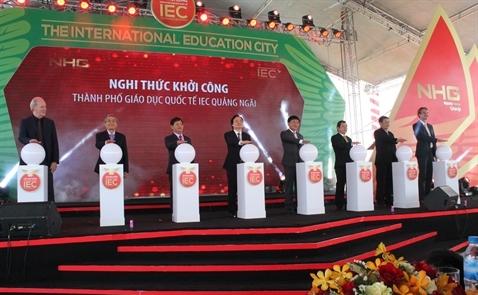 Khởi công thành phố giáo dục tại Quảng Ngãi