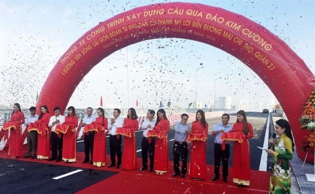 Thông xe cầu nối Thủ Thiêm với đảo Kim Cương