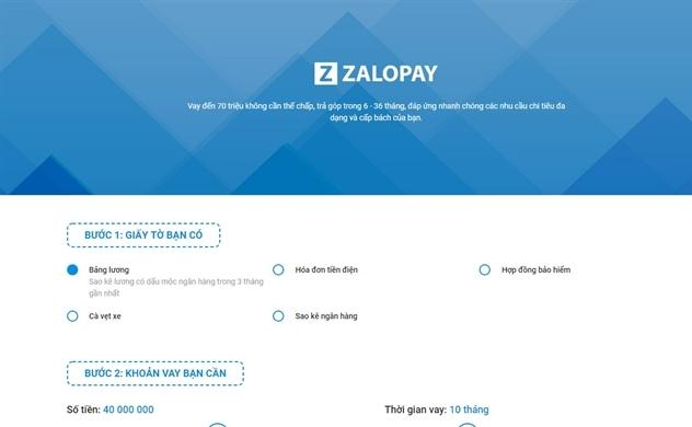 ZaloPay bắt đầu cho vay?