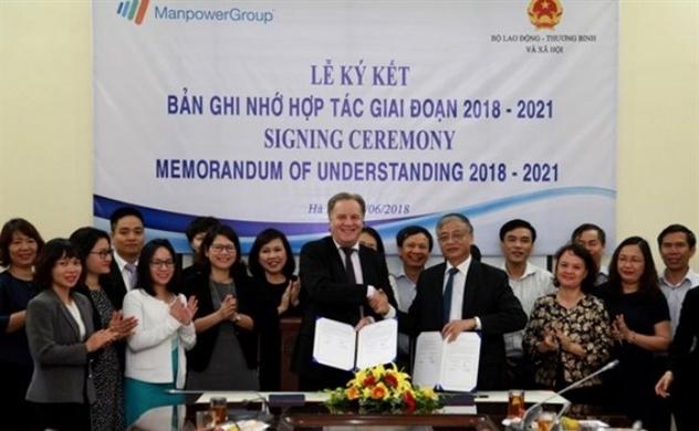 ManpowerGroup ký biên bản ghi nhớ với Bộ Lao động - Thương binh và Xã hội