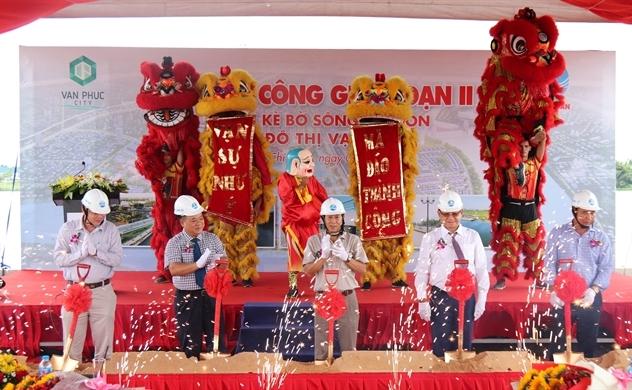 Khởi công phân đoạn II tuyến kè bờ sông Sài Gòn – Khu đô thị Vạn Phúc