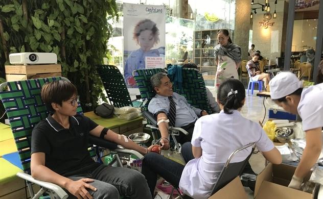 Capitaland và Ascott tổ chức hiến máu nhân đạo năm thứ 12