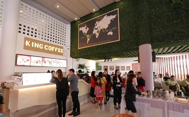 Trung Nguyên International khai trương quán King Coffee đầu tiên