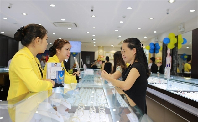 PNJ đặt mục tiêu 320 cửa hàng năm 2018