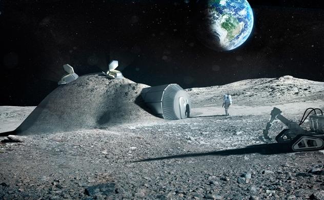 Bắt tay trên Mặt trăng