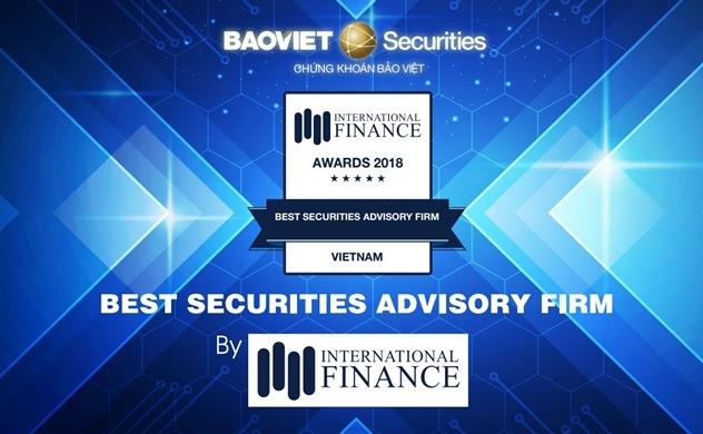 Chứng khoán Bảo Việt nhận giải thưởng Best Securities Advisory Firm – Vietnam