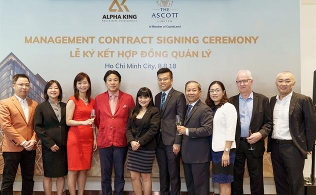 Alpha King ký hợp đồng quản lý với The Ascott Limited