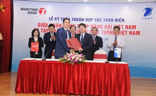 VNPT ký kết thỏa thuận hợp tác toàn diện với Ngân hàng TMCP Hàng hải Việt Nam