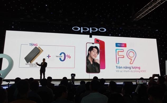 Oppo ra mắt F9, tích hợp công nghệ sạc nhanh VOOC