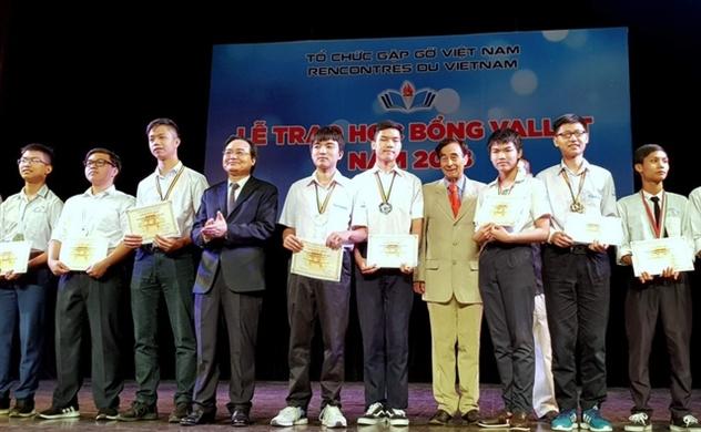 620 học sinh, sinh viên miền Bắc được trao tặng học bổng Vallet