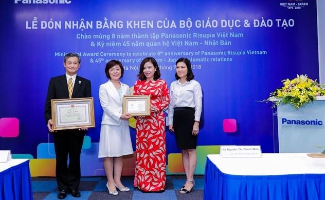 Panasonic nhận Kỷ niệm chương vì sự nghiệp giáo dục