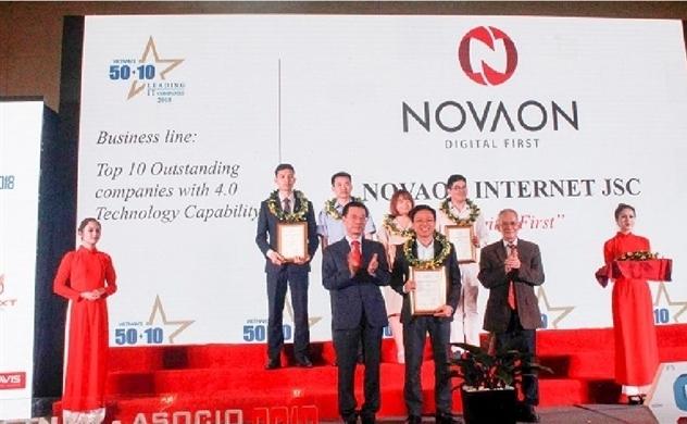 Novaon nhận giải top 10 doanh nghiệp công nghệ 4.0