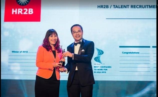HR2B: Công ty nhân sự đầu tiên vinh dự nhận giải thưởng HR Asia Awards 2018
