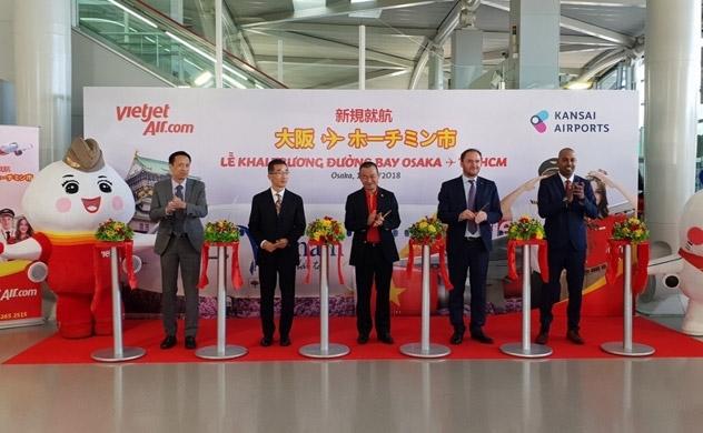 Vietjet khai trương đường bay từ TP.HCM đến Osaka