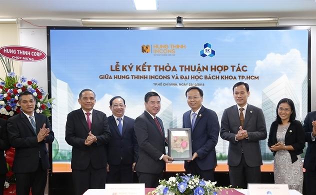 Hưng Thịnh Incons ký kết hợp tác cùng Đại học Bách khoa TP.HCM
