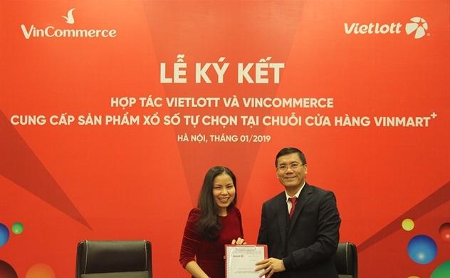Vietlott hợp tác với VinCommerce