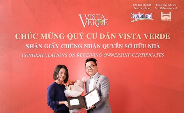 Vista Verde đã được cấp sổ hồng