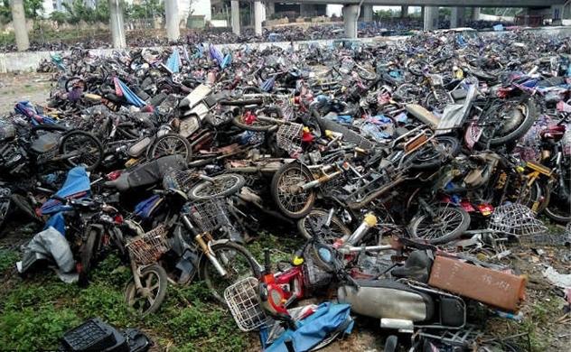 Cận cảnh 'nghĩa địa' xe máy ở Trung Quốc
